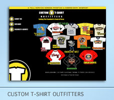 Custom T-Shirt Outfitters Web Project