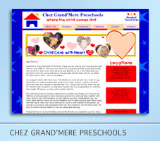 Chez Grand'Mere Preschool Web Project